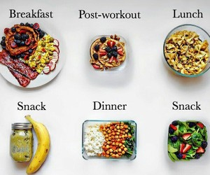 exercise, food porn, and vegan image