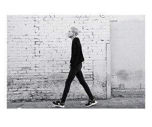 black and white, the neighbourhood, and boy image