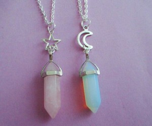 pink, blue, and necklace image