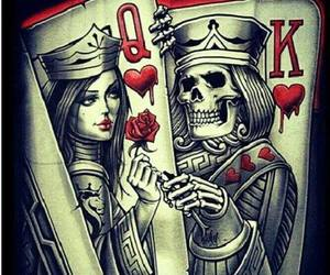 Queen and skeleton image
