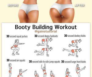 fitness, workout, and booty building image
