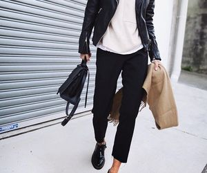 chic, jacket, and street style image
