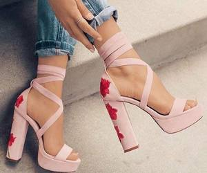 beautiful, heels, and roses image