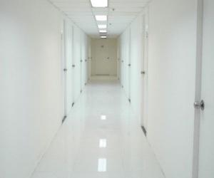 hallway, hospital, and white image