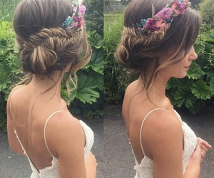 braid, cool, and flower image