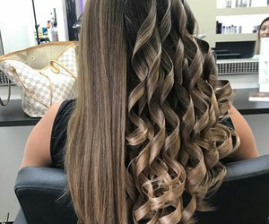 curls, hair color, and hair style image