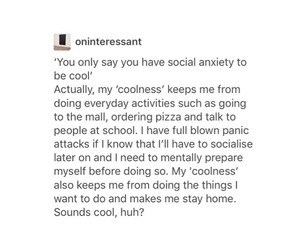 social anxiety and tumblr image