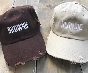 best friends, blonde, and brownie image