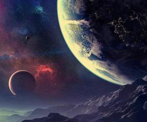 galaxy, planet, and wallpaper image