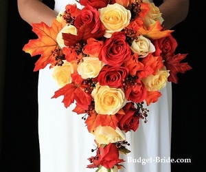 fall, orange, and flowers image