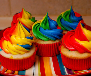 colours and cupcake image