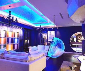light installation, lounge room, and perfect room image