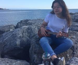beach, girl, and happy image