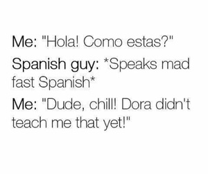 Dora, spanish, and funny image