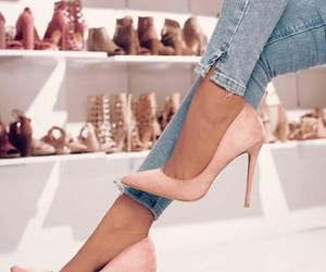 fashion, tacones, and pink stiletto image