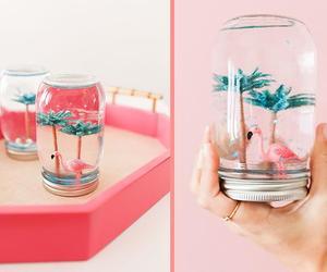diy, flamingo, and pink image
