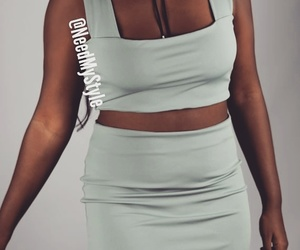 bralette, mini skirt, and dress image