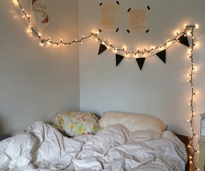 beautiful, bed, and bedroom image