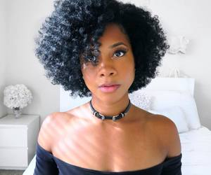 beautiful hair, healthy hair, and twist out image