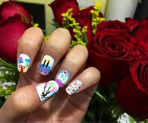 birthday, nails, and birthday nails image
