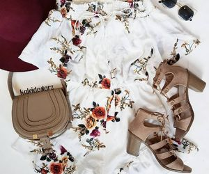 casual, floral, and heels image