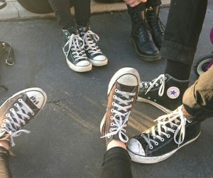 converse, friends, and grunge image