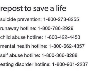 repost, suicide, and help image
