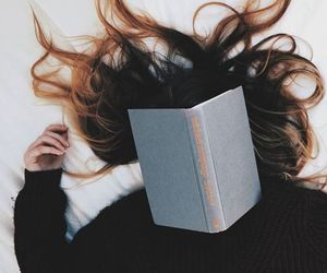 book, hair, and aesthetic image