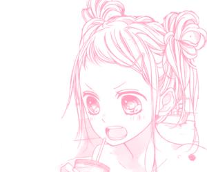 caps, pink, and manga image