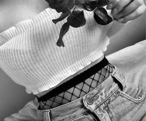 fashion, rose, and girl image