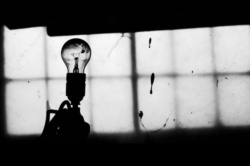 Black And White Bulb Contrast Lightbulb Inspiring Picture On Picship