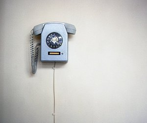 blue, phone, and vintage image