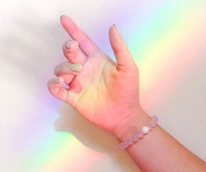 rainbow, aesthetic, and pastel image