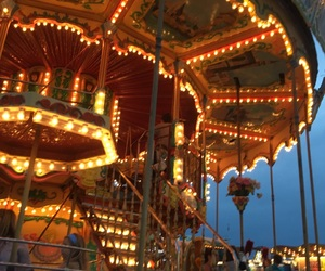beach, boardwalk, and carousels image