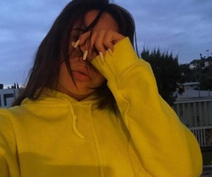 yellow, aesthetic, and girl image