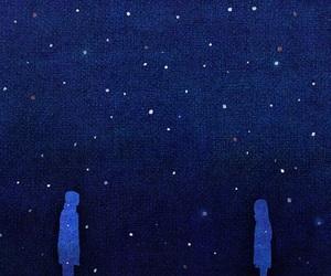stars, night, and couple image