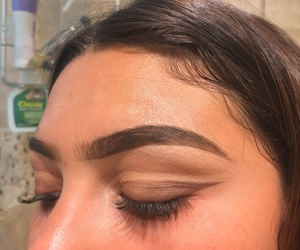 double, eyebrows, and browneyes image