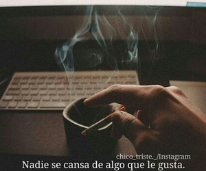 cigarrete, frases, and coffe image