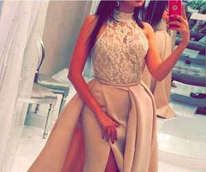 evening dress, lace evening dresses, and lace image