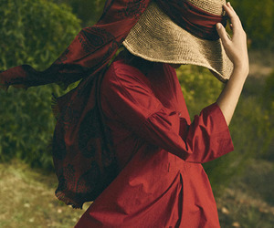 fashion, red, and mood image