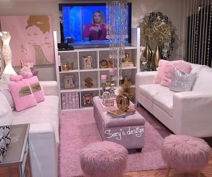 pink, house, and room image