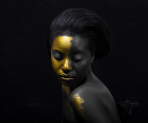 black beauty, conceptual, and black and golden image