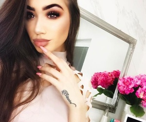 Nude, baby pink, and makeup image