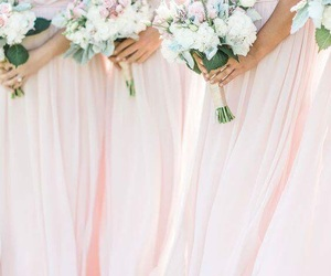 bridesmaids, the perfect day, and dresses image