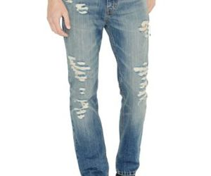 denim jeans, jeans for men, and ripped jeans for men image