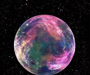 galaxy, stars, and moon image