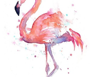 flamingo, pink, and art image