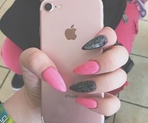 black, Hot, and long nails image