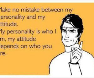 attitude, personality, and quote image