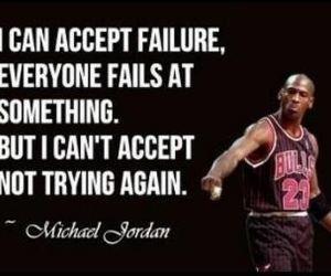 quote, michael jordan, and Basketball image